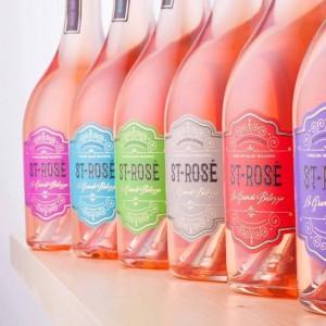 Bottles of rose wine from Enorama Estate