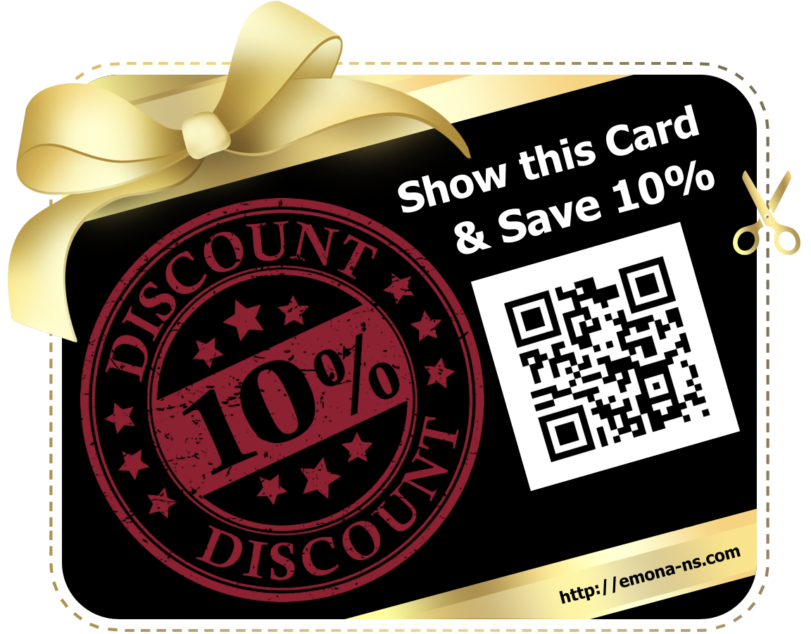 Discount card 10 percent off for restaurant Emona in Nessebar.